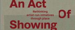 Book Launch: An Act of Showing: rethinking ARIs through place