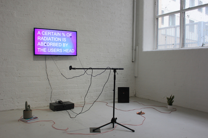 1 - Figure 1. Go live in the Middle of Nowhere, installation view, copyright the author, 2020..jpg
