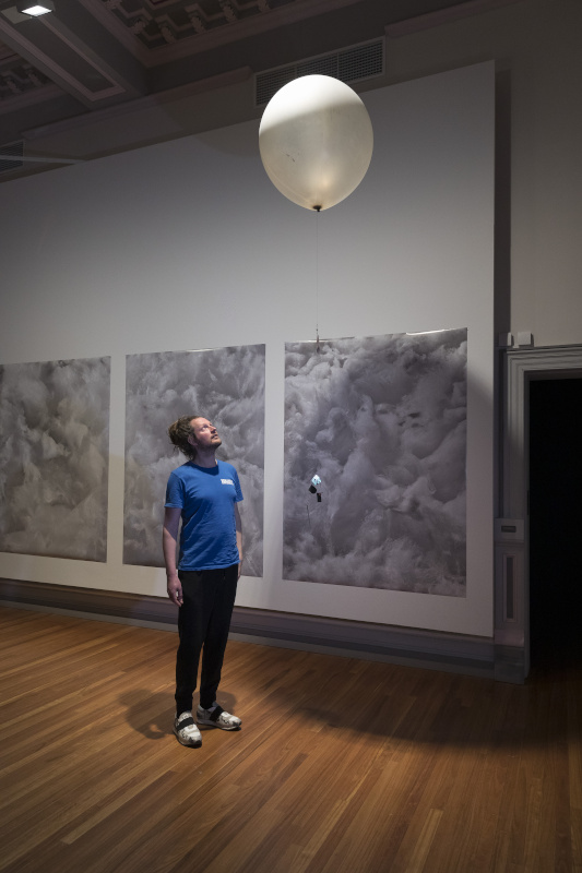 Sounding the Air. Chris Cottrell. 2018. In Dynamics of Air. RMIT Gallery, Melbourne. Photo: Mark Ashkanasy